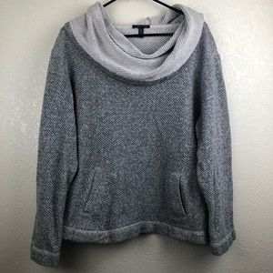 Eileen Fisher | Gray Cotton Cowl Neck Pullover XL